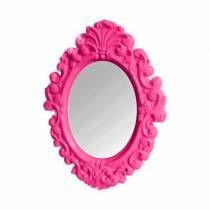 Espelho oval plastico pink 2x30cm urban