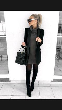 Winter Fashion Outfits, Fall Winter Outfits, Work Fashion, Autumn Fashion, Classic Fashion Style, Fall Office Outfits, Winter Office Outfit, Office Outfits Women, Fashion Looks