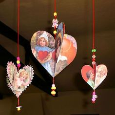 Vintage crafts for Valentine's Day.