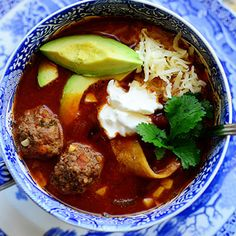 Meatball Tortilla Soup from @Ree Drummond | The Pioneer Woman. Cowboy approved.  #KtchnConvo