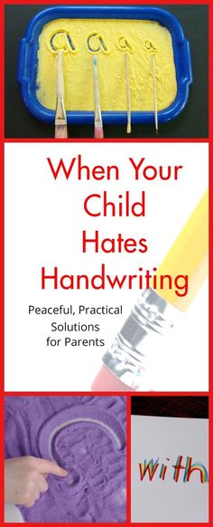 Handwriting worksheets and frustrated kids? Tons of resources here to make handwriting practice peaceful and fun. Great info on what to do if you suspect a deep problem with a child who struggles with handwriting.