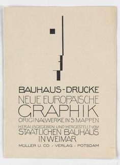 OSKAR SCHLEMMER (1888-1943) BAUHAUS - DRUCKE / NEUE EUROPÄISCHE GRAPHIK. Prospectus. 1922.
