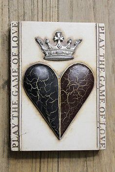 """Sid Dickens Memory Block - T66 - """"Heart & Crown"""" in Collectibles,Decorative Collectibles,Wall Hangings, Mirrors 