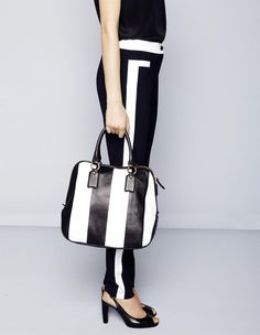 Madeleine  black and white stripes