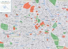 detailed street names neighbourhood districtss Vienna top tourist attractions map