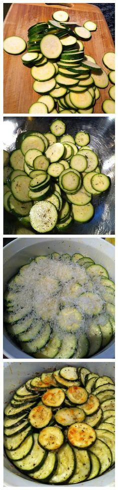 Roasted Parmesan Zucchini Recipe