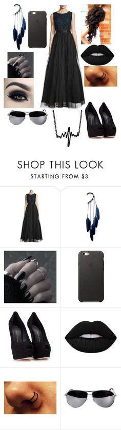 """""""Untitled #160"""" by savedbybands ❤ liked on Polyvore featuring Aidan Mattox, Anni Jürgenson, Too Faced Cosmetics, Giuseppe Zanotti and Lime Crime"""