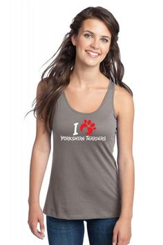 ilove yorkshire terriers 1 Racerback Tank