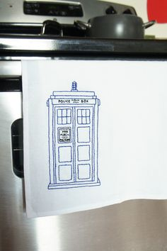 Doctor Who Embroidery Pattern - Free download