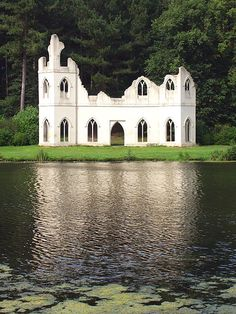 amazing garden folly from Claremont Gardens, a national trust garden in Surrey