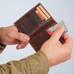 Our beautifully buffalo leather credit card holder is the perfect gift for the functional yet stylish person in your life. A compact classic. Featuring 8 card slots and a slip section for folded bank notes or loyalty cards, our card holder is the ideal way to carry all of your essential cards in a simply sophisticated way. Folded Dimensions: Height - 11cm Width - 8cm Depth - 1cm Loyalty Cards, Gifts For Him, Buffalo, Compact, Card Holder, Notes, Stylish, Classic, Leather