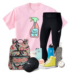"""""""Love this shirt"""" by southernstruttin ❤ liked on Polyvore featuring NIKE, OtterBox, TNA, Hydro Flask, Converse, Vera Bradley, Bobbi Brown Cosmetics and Irene Neuwirth"""