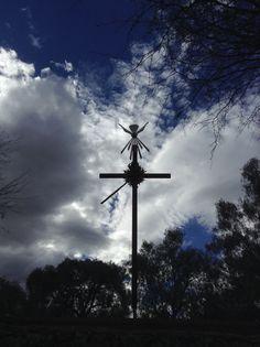 Cruz del Apostolado en el Noviciado de los Misioneros del Espíritu Santo. Jesús María, San Luis Potosí, México