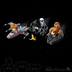 """One little, floating space banana could ruin everything! """"Star Kart"""" is on sale now: TeeTurtle.com/products/star-kart"""