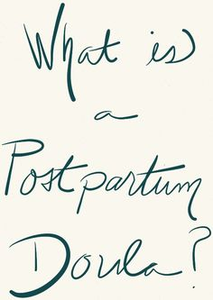 What Is A Postpartum Doula?  I've never heard of this before and it would've been so helpful! I may just get one next time around!