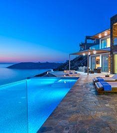 Amazing sea view from Villa Kyma in Chania, Crete, Greece