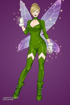 Disney Heroes: Tinkerbell ~ by nightwing2002 ~ created using the X-Girl doll maker   DollDivine.com
