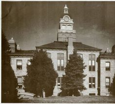 Douglas County Courthouse, Castle Rock, Colorado. The building was built in 1889 and burned down in 1978  :: Photograph Collection