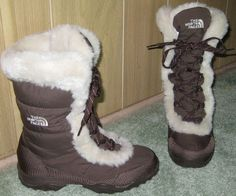 The North Face Womens Boots Nuptse II Brown Size 6