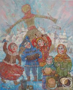 Сипович Татьяна. масленица Ukraine, Folk Art, Christmas Cards, Watercolor, History, Artist, Painting, Vintage, Russia