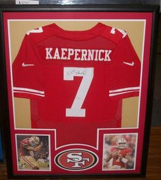 framed signed colin kaepernick san francisco 49ers signed jersey coa from us