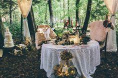 This woodsy bohemian wedding illustrates one of the more unusual 2018 wedding trends. Having your wedding in a gorgeous woodland setting doesn't mean sacrificing comfort or elegance. Wedding Draping, Tent Wedding, Boho Wedding, Summer Wedding, Party Tent Hire, Party Props, Lilac Wedding, Wedding Bouquets, Arabian Tent