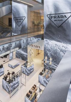 Shop Interior Design, Retail Design, Pop Up, Prada, Photo Wall, Chic, Dancing, House, Adidas