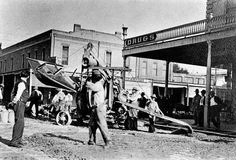 """Street paving operations began in downtown Chico in 1910. Workers are busy in this photo getting ready to pave a section of Main Street. Photos like this from the John Nopel and Randy Taylor collections can be seen at the Chico Museum exhibit """"One Hundred Years of Chico History."""" (Courtesy of Chico Museum)"""