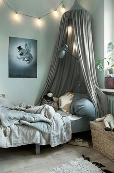 Kid's room inspiration | Linen Canopy available at www.istome.co.uk