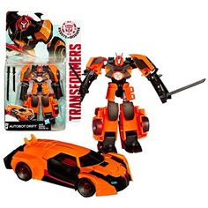 Hasbro Year 2014 Transformers Robots in Disguise Animation Series Deluxe Class 512 Inch Tall Robot Action Figure  AUTOBOT DRIFT with 2 Katana Swords Vehicle Mode Sports Car >>> Read more reviews of the product by visiting the link on the image.Note:It is affiliate link to Amazon. #like