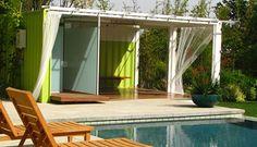 Groene containerwoningen