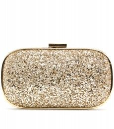 This Marano glitter box clutch can help you make the grand entrance into your prom. Store everything you need from makeup for touching up to tampons in style.