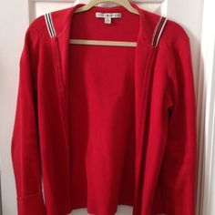Tommy Hilfiger sweater Sporty red sweater in very good condition. Tommy Hilfiger Sweaters Cardigans