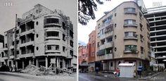 Comparativa del edificio Orinoco, Sarría, 1948-2014 Street View, Gift, Red Roof, Caracas, Past Tense, Buildings, Venezuela, Cities, Architecture