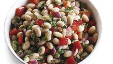 White Bean Salad with Mint and Red Onion - Recipe - FineCooking