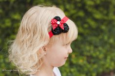 Red Minnie Inspired HeadbandBaby Girl by PinkElephantBowtique