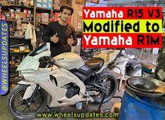 The yamaha R15 v3 modified to look like Yamaha R1M with custome made body panels. Yamaha, India, Goa India, Indie, Indian