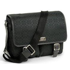 Coach Authentic Signature BLACK Messenger Bag Cross Body 70283 SBKBK (Apparel)    On sale now.