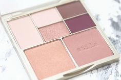 Review and Swatches of the Stila Perfect Me, Perfect Hue Eye and Cheek Palette in the shade Medium/Tan featuring blushes and eyeshadows.