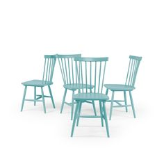 Wood H17 Windsor Chair, Turquoise - Department - Department - RoyalDesign.fr