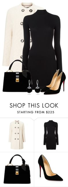"""Untitled #6231"" by cassandra-cafone-wright ❤ liked on Polyvore featuring Windsmoor, adidas Originals, Miu Miu, Christian Louboutin and Bling Jewelry"
