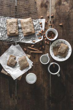 "Clean Apple Cinnamon ""Pop Tarts"" (Grain/Gluten/Dairy/Sugar-Free) - offbeat + inspired Gluten Free Pancakes, Gluten Free Recipes For Breakfast, Gluten Free Breakfasts, Gluten Free Desserts, Fall Recipes, Sweet Recipes, Real Food Recipes, Cinnamon Pop Tart, Apple Cinnamon"