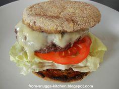 Burger mit Rotwein-Reduktion