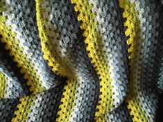Ravelry: Lizardman's Granny Stripes Blanket