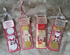 Stampin' Up! Demonstrator stampwithpeg – Christmas Craft Fair makes : Hanging Sweet Treats, Candy Cane Lane & Cookie Cutter Christmas with Instructions. I just cant stop crafting with these two…