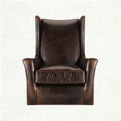 Halstead Leather Swivel Chair In Monte Cristo Cigar | Arhaus Furniture