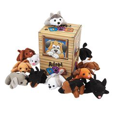 Cute favors for a Puppy / Dog themed party.  Mini Bean Bag Dog Pound Assortment - OrientalTrading.com