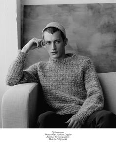 Playboys features Reece Sanders at FM London, Breton at Select and Dylan Lewis at in a classic portrait series shot on film by Charlotte Hadden for Client Magazine Stylist Georgia Boal Russ… Classic Portraits, Fashion Editor, Playboy, Mona Lisa, Charlotte, Men Sweater, Style Inspiration, Mens Fashion, Black And White
