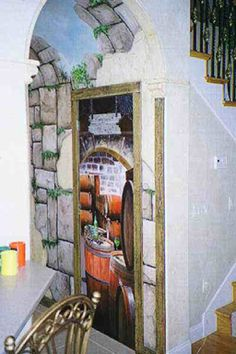 "Go crazy in the small spaces like a hallway!   ""How to paint a mural on a wall."""