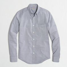 J.Crew Factory - Factory slim washed shirt in blue stripe - $31